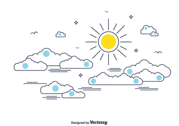 Cloudy Sky Vector - Free vector #366141