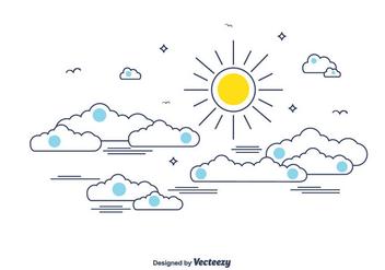 Cloudy Sky Vector - Kostenloses vector #366141