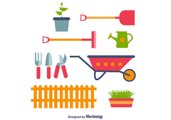 Gardening Icons Vector - Free vector #366431