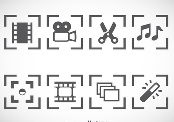 Video Editing Icons Vector - бесплатный vector #366481