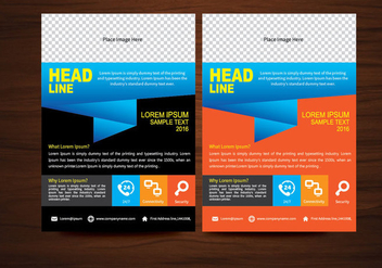 Vector Brochure Flyer design Layout template in A4 size - бесплатный vector #366561