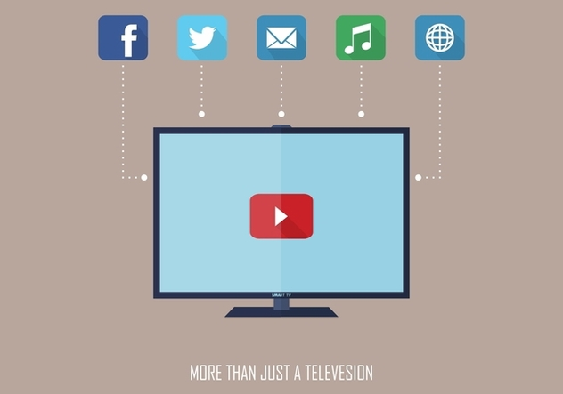 Smart Social TV Vector - Free vector #366801
