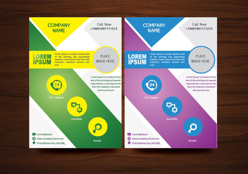 Vector Brochure Flyer design Layout template in A4 size - vector #366881 gratis