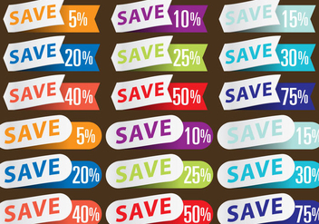 Discount Stickers - vector #366951 gratis