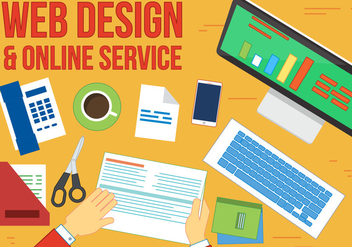 Free Online service Vector Workplace - Free vector #367061