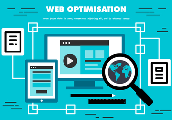 Free Web Optimisation Vector Background - Free vector #367081