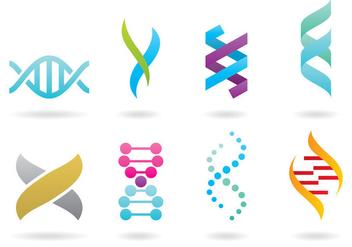 Double Helix Logos - бесплатный vector #367201