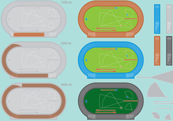 Olympic Track Vectors - Kostenloses vector #367251