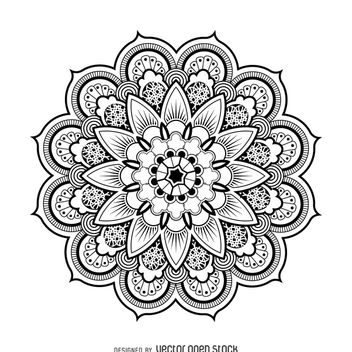 Mandala design drawing - Free vector #367561
