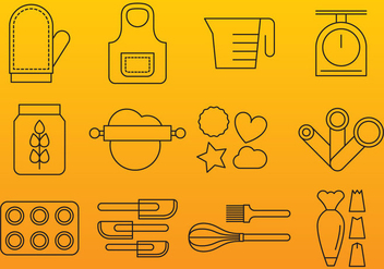 Bakery Line Icons - Free vector #367651