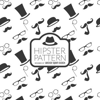 Hipster element background - vector gratuit #367941