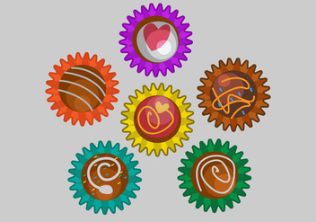 View Top Truffles Vector - vector gratuit #367981