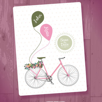 Save the date template - vector gratuit #368041