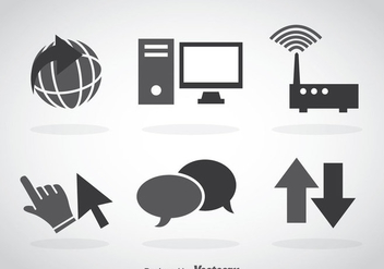 Internet Grey Icons - vector gratuit #368551