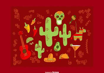 Mexican Element Vectors - Free vector #368581