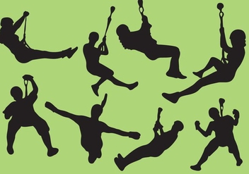 Zip Line silhouettes - Free vector #368661