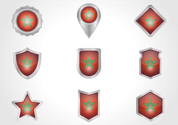 Free Morocco Badge Vector - Kostenloses vector #368691