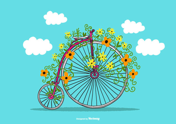 Penny Farthing Vector Bike - Free vector #368701
