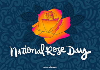 NATIONAL ROSE DAY Vector - vector gratuit #368721