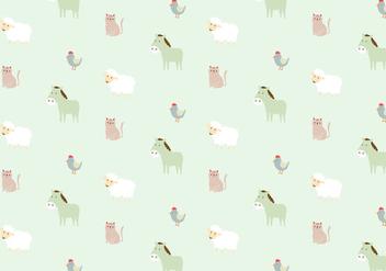 Farm Animals Pattern Background - vector #368761 gratis