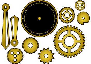 Free Clock Parts Vector - vector gratuit #368841