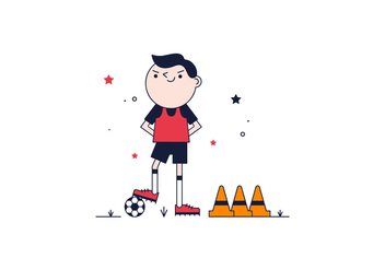 Free Soccer Player Vector - Kostenloses vector #368971