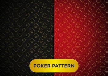 Poker Pattern Elegant Vector - Free vector #369011