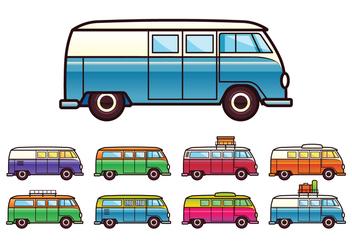 Free VW Camper Vector - бесплатный vector #369021