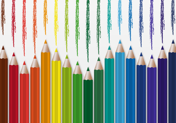 Free Colorful Pencils Vector - vector gratuit #369041