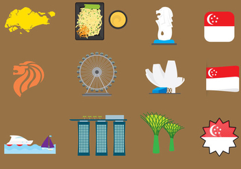 Vector Singapore Icons - Free vector #369111