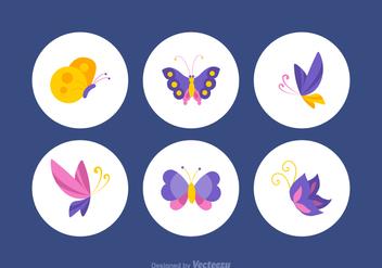 Free Colorful Papillon Vector Set - Free vector #369371