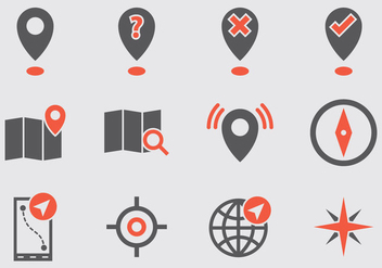 Map Legend Vector Icons - Free vector #369391