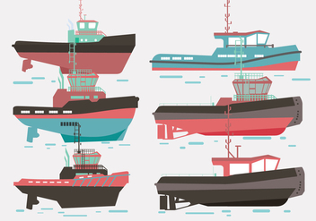 Tugboat Vector - Free vector #369511