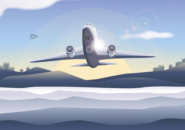 Avion Plane Vector Free - бесплатный vector #369611