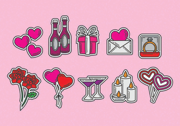 Anniversary Vector Icons - vector #370011 gratis