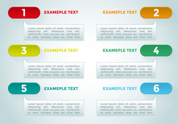 Bullet Points Infographics Elements Vector - Free vector #370031