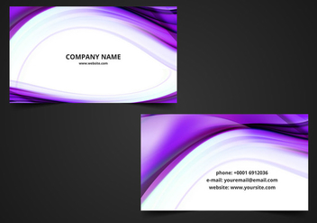 Free Vector Wavy Visiting Card Background - Free vector #370181