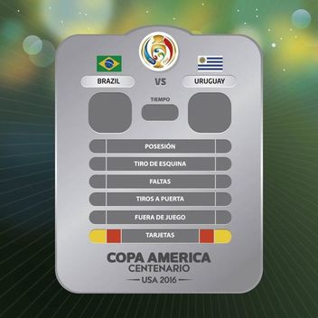 Copa America game results chart - Free vector #370231