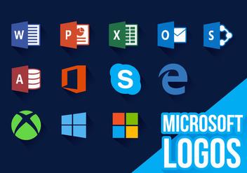 Microsoft Icons New Logos Vector - Kostenloses vector #370421