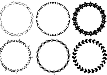 Cute Hand Drawn Style Frames - Free vector #370541