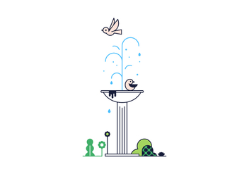 Free Fountain Vector - Free vector #370621