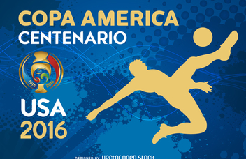 Copa America silhouette banner - Free vector #370661