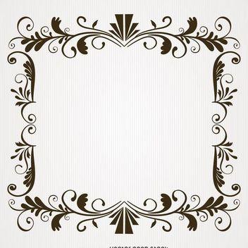 Vintage swirl frame - vector gratuit #370701