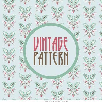 Vintage floral pattern - vector gratuit #370711