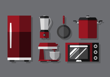 Vector Cooking Set - vector gratuit #370801