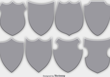 Vector Set Of Shields/Security Emblems - vector gratuit #371201