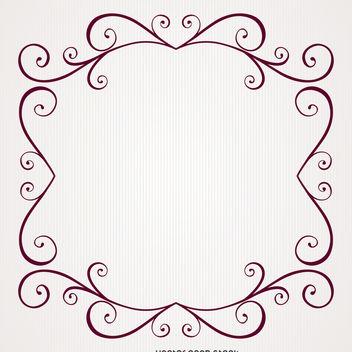 Retro vintage swirl frame - vector gratuit #371221