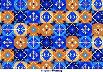 Blue Talavera Vector Pattern - бесплатный vector #371391