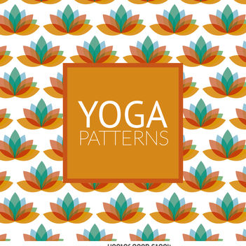 Lotus yoga pattern - vector gratuit #371451