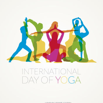 International Day of Yoga poses - vector gratuit #371461